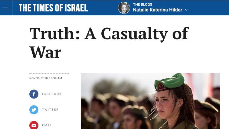 Truth: A Casualty of War