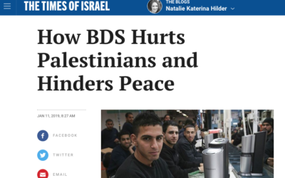 How BDS Hurts Palestinians and Hinders Peace
