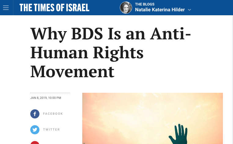 Why BDS Is an Anti-Human Rights Movement