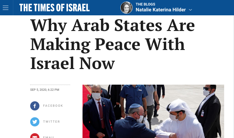 Why Arab States Are Making Peace With Israel Now