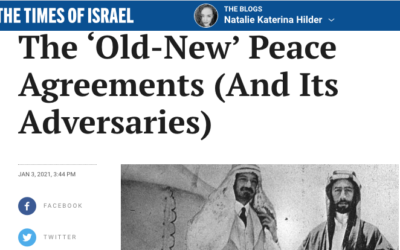 The 'Old-New' Peace Agreements (And Its Adversaries)
